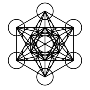metatron's cube black