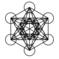 metatron's cube black